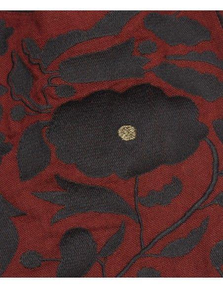Spódnica Cow Embroidered brązowa - Caramel