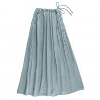 Spódnica dla mamy Ava długa zgaszony błękit