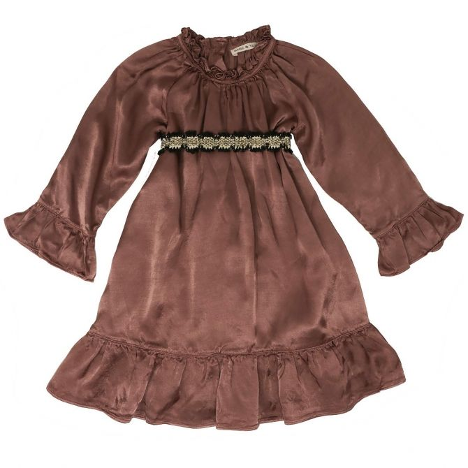 Babe & Tess Dress vintage black belt brown