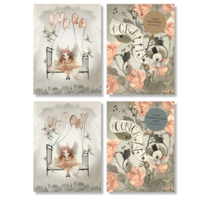 Two pack congratulation cards Roses - Mrs. Mighetto