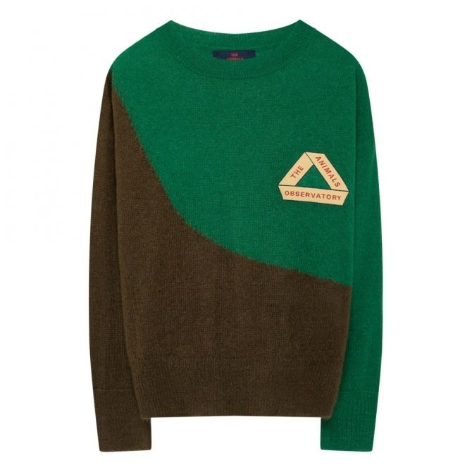 The Animals Observatory Sweater Bicolor Bull Electric Green