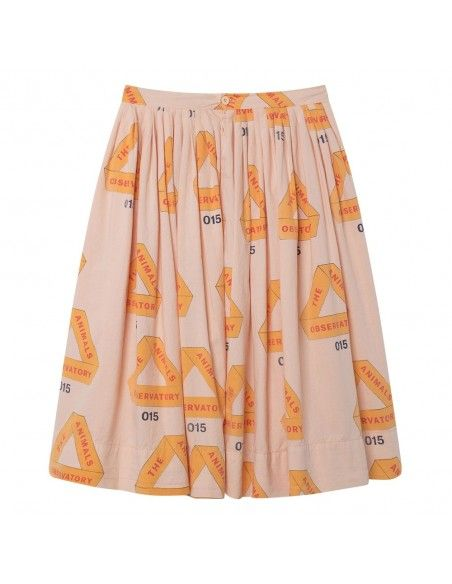 The Animals Observatory Jellyfish Kids Skirt Rose Triangles