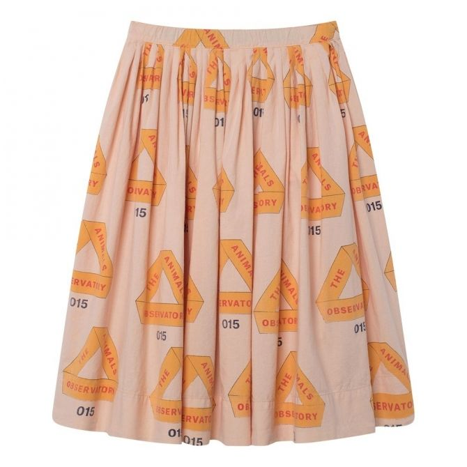 Jellyfish Kids Skirt Rose Triangles - The Animals Observatory