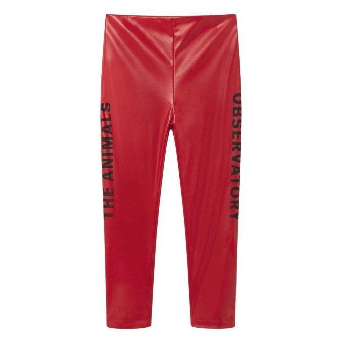 The Animals Observatory Chicken Kids Pants red apple black