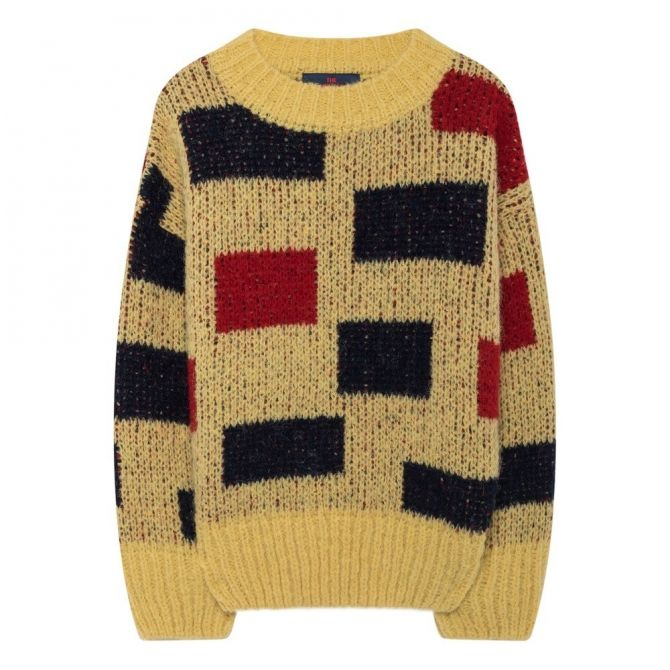 The Animals Observatory Arty Bull Kids Sweater sunny yellow