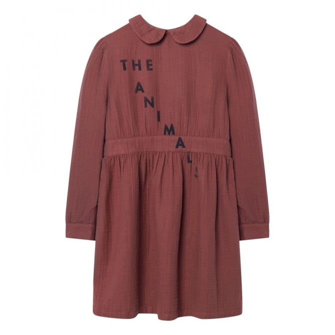 The Animals Observatory Canary Kids Dress Maroon Navy The