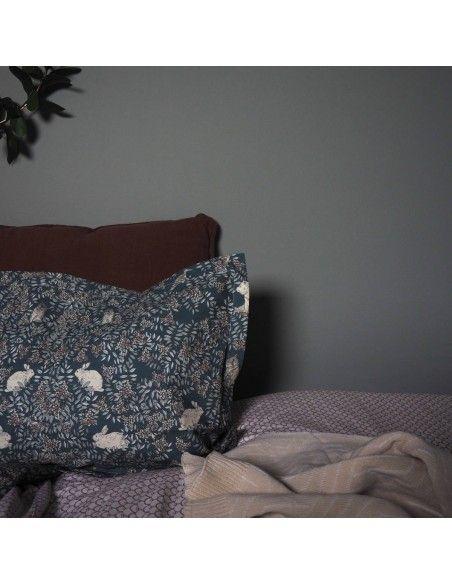 Garbo & Friends Poszewka na poduszkę Fauna ciemnozielona