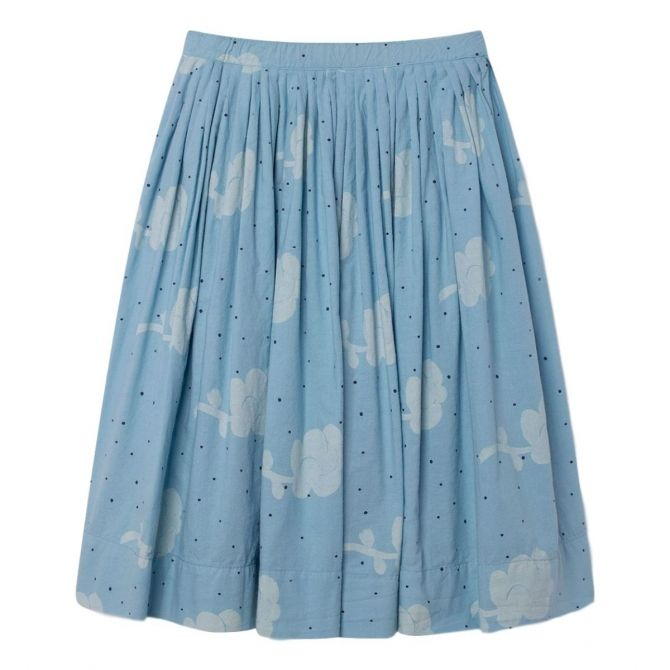 Jellyfish Kids Skirt Blue Flowers - The Animals Observatory