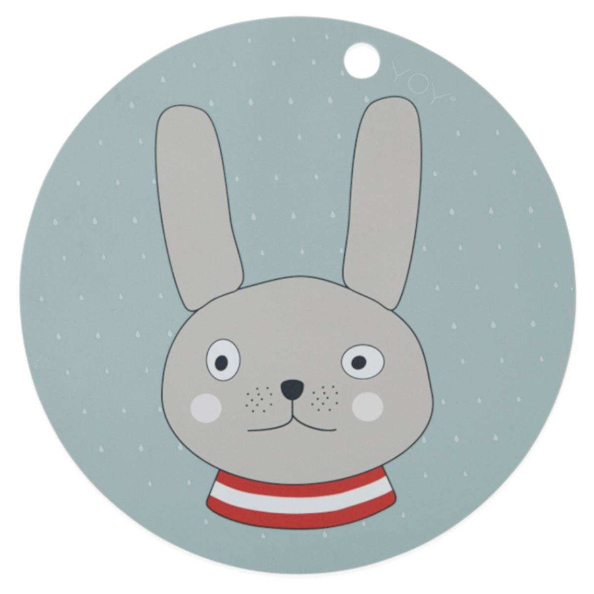 Podkładka pod talerz królik niebieska - OYOY