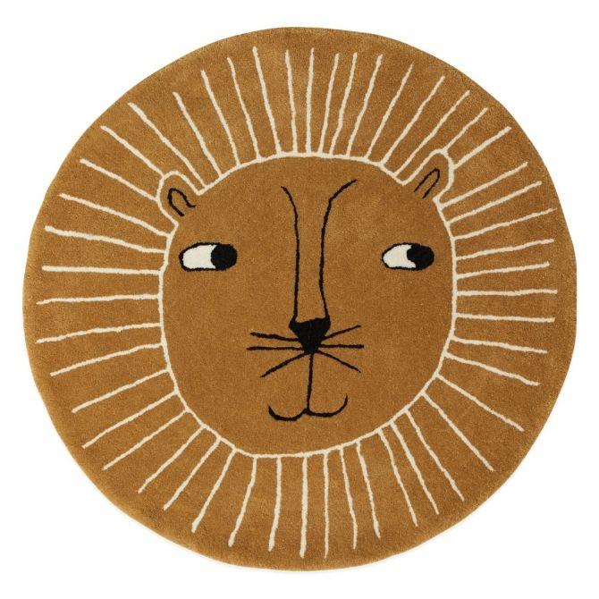 OYOY Rug Lion Caramel brown