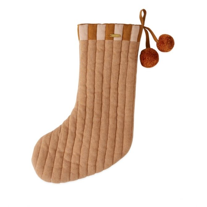 Laja Christmas Stocking brown - OYOY
