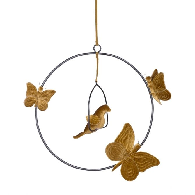 Numero 74 Decoration Bohemian Swing Mobile mustard