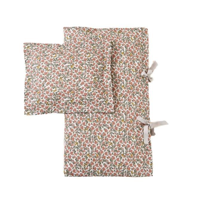 Zestaw pościeli Floral Vine Baby czerwony - Garbo & Friends