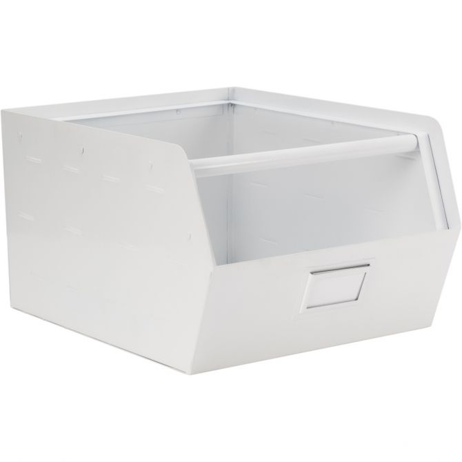 Metal Storage Box white - Kids depot