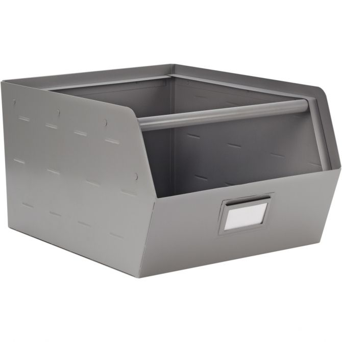 Metal Storage Box silver - Kids depot