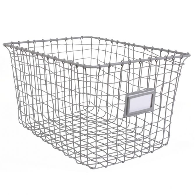 Wire basket grey - Kids depot