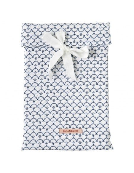 Garbo & Friends - Cupola Blue Baby Bedset BS SE white - 2