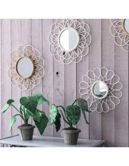 Lustro Zoom Spiegel Bamboo białe - Kids depot