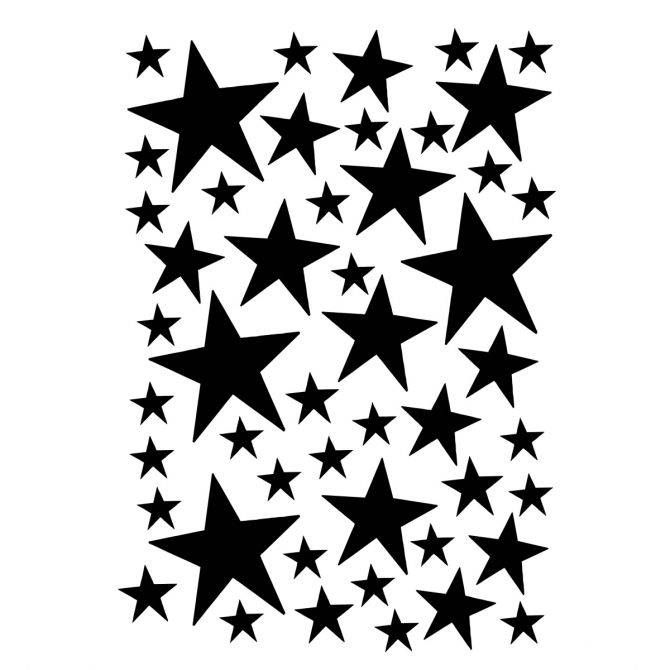 Wallsticker Mini Stars black - Ferm LIVING