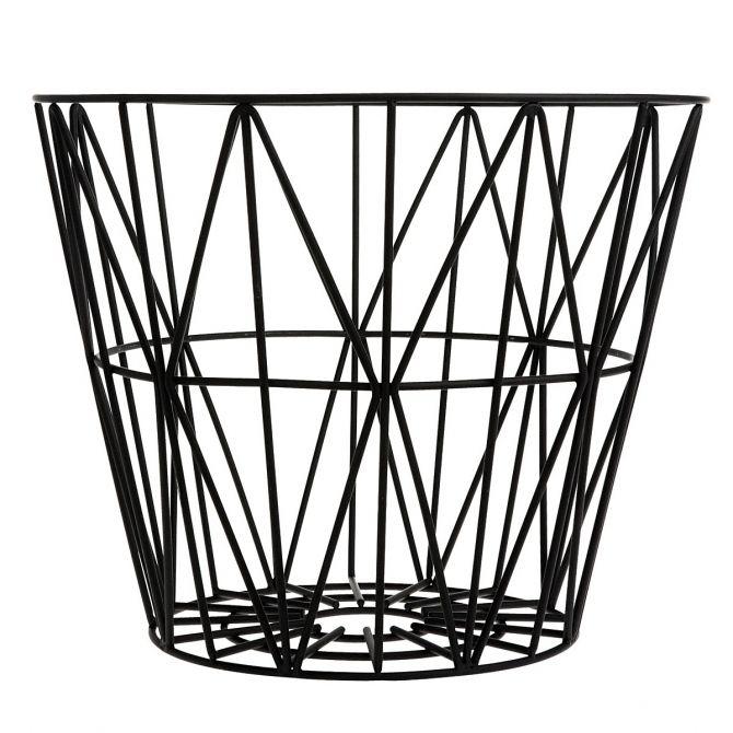 Kosz z drutu Wire Basket black czarny - Ferm LIVING