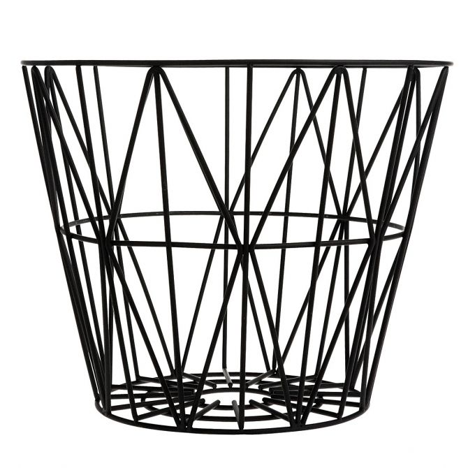 Wire Basket black czarny - Ferm LIVING
