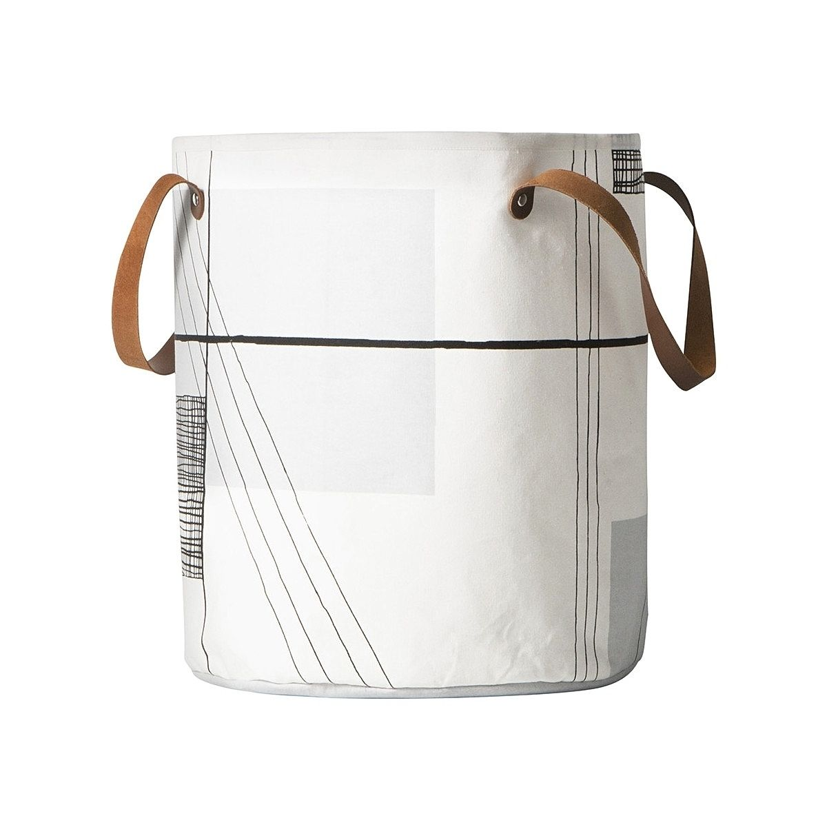 Ferm LIVING Basket Trace white