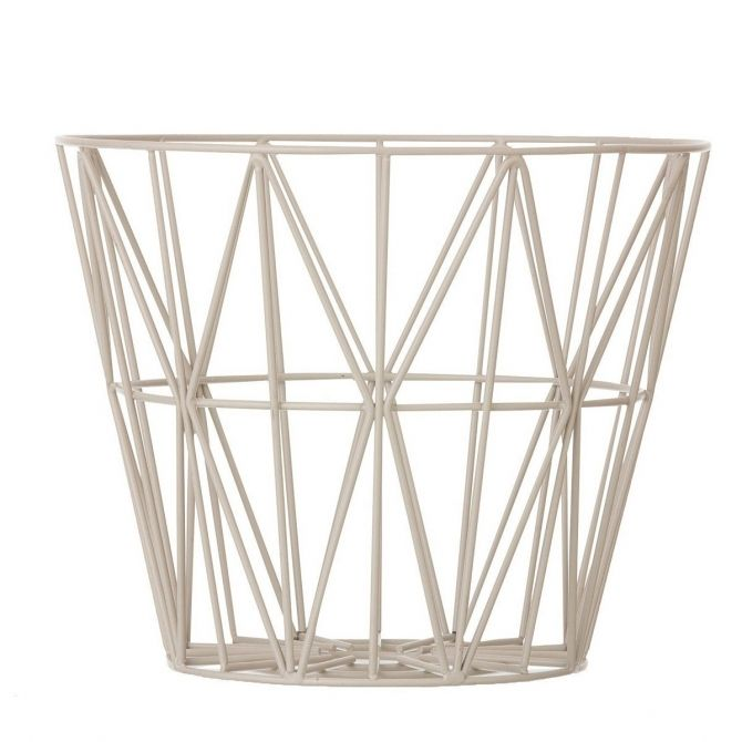 Wire Basket light grey