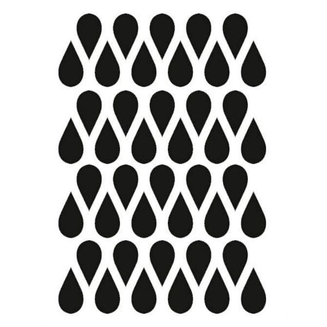Naklejki na ścianę Mini Drops czarne - Ferm LIVING
