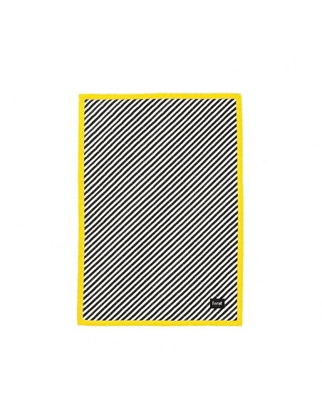 Blanket Striped Quilted black - Ferm LIVING