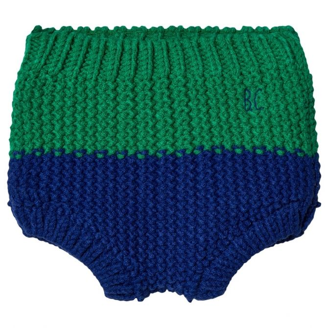 Blue Knitted Culotte - Bobo Choses