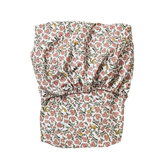 Floral Vine Junior Fitted Sheet red - Garbo & Friends