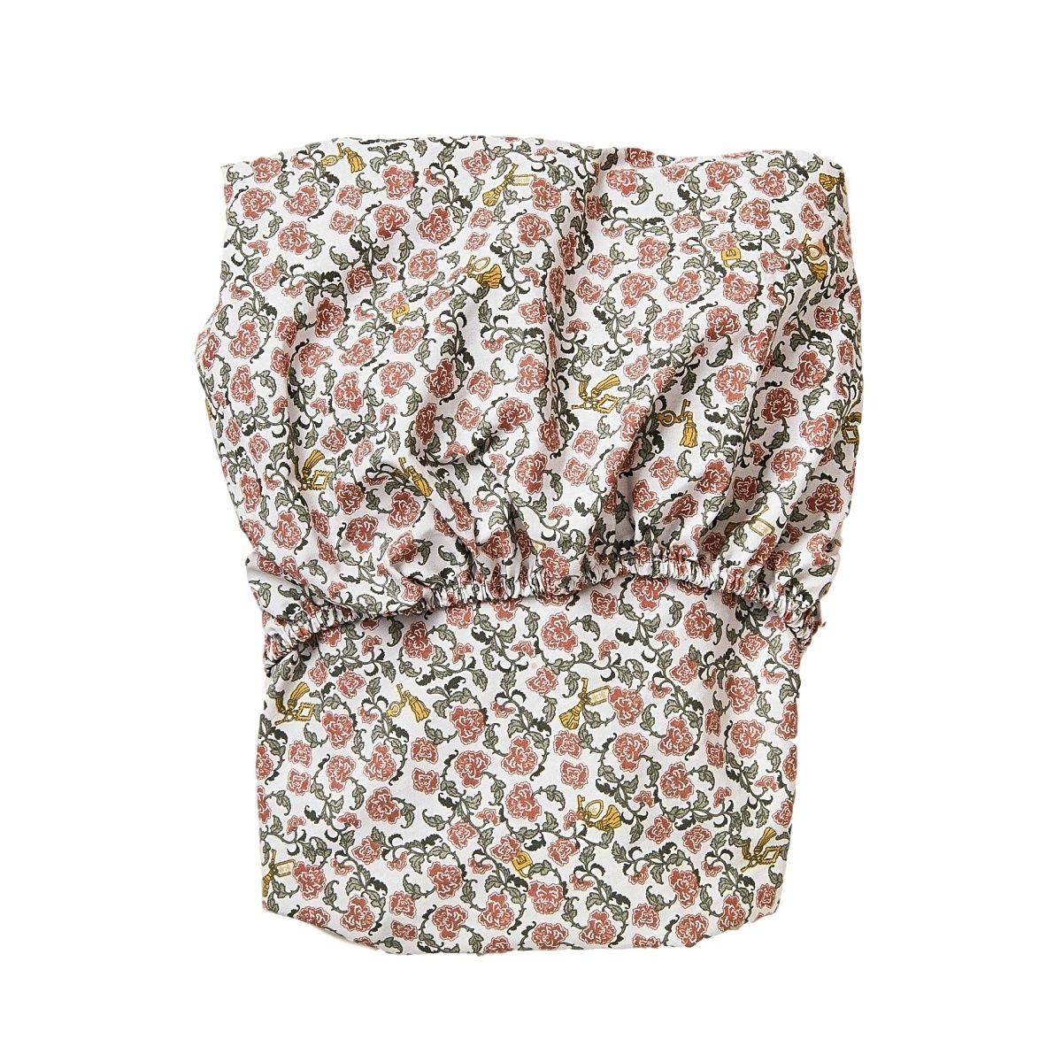 Garbo & Friends Floral Vine Junior Fitted Sheet red