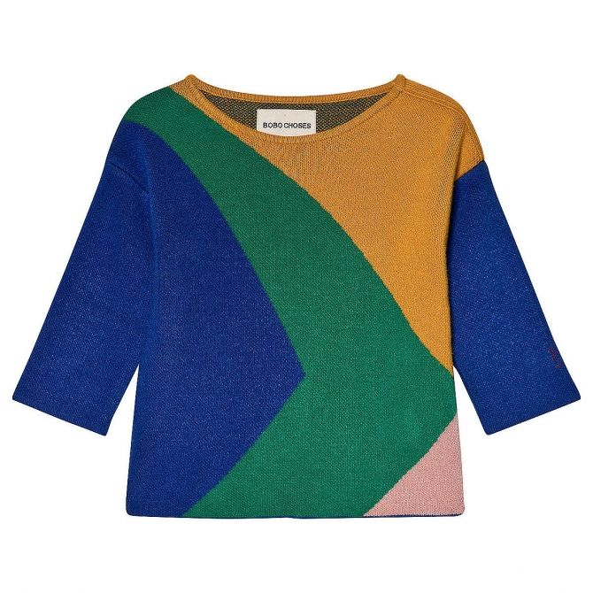 Geometric Jumper blue