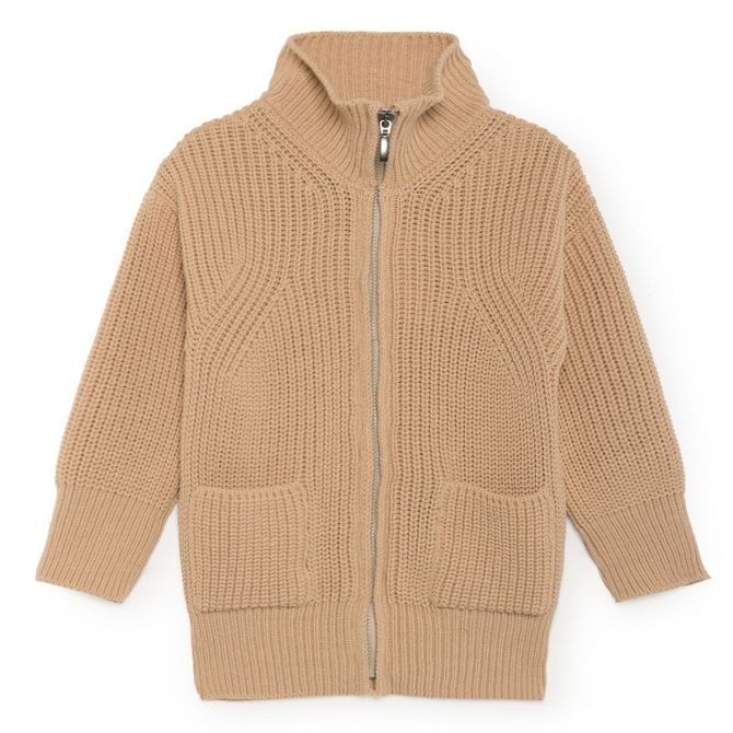 Bobo Choses B.C. Zipped Cardigan beige