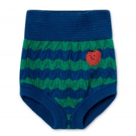 Strawberry Knitted Culotte blue