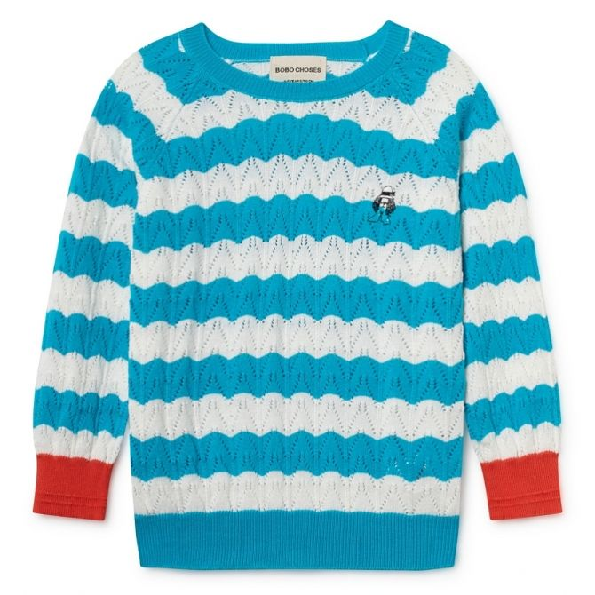 Paul's Jumper blue - Bobo Choses