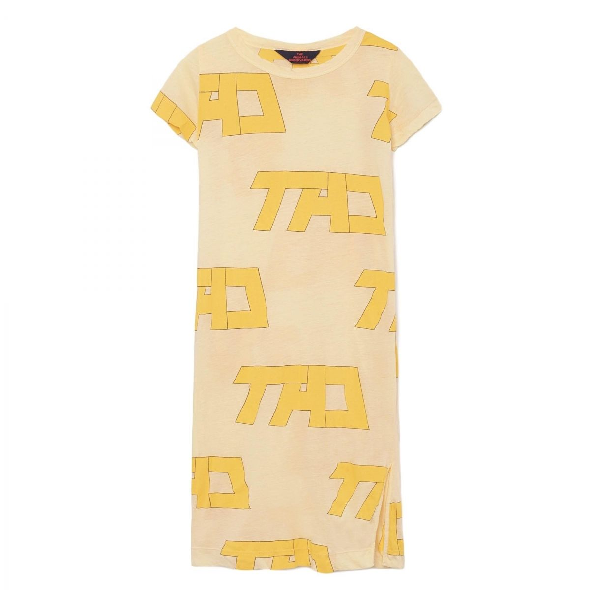 The Animals Observatory Gorilla Kids Dress yellow
