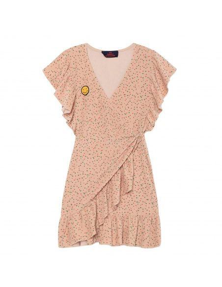 The Animals Observatory Whale Kids Dress pink