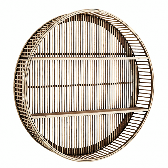 Round Bamboo Shelf - Madam Stoltz