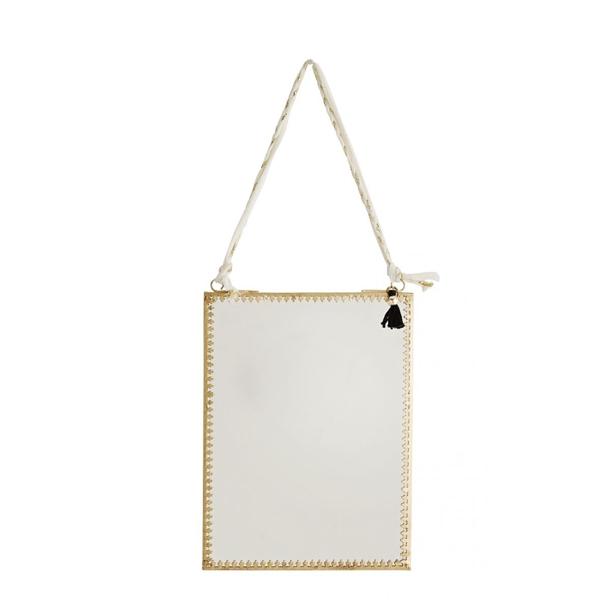 Madam Stoltz Hanging mirror gold 15x20 cm