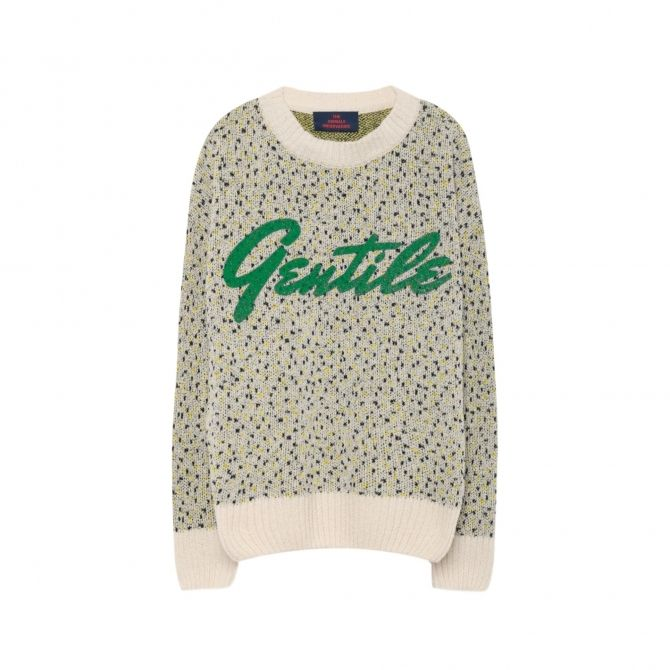 The Animals Observatory Gentile Bull Kids Sweater green