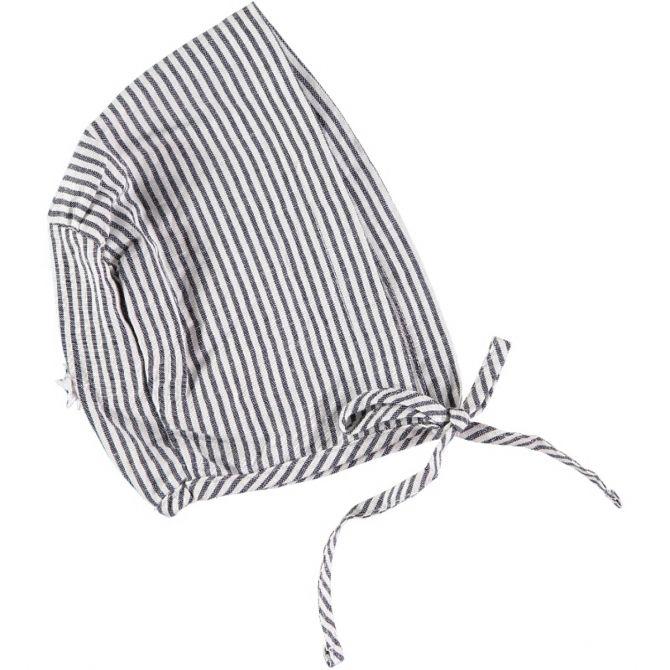 Tocoto Vintage Striped Bonnet blue