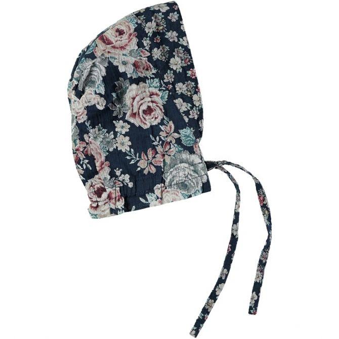 Flowers Bonnet black - Tocoto Vintage