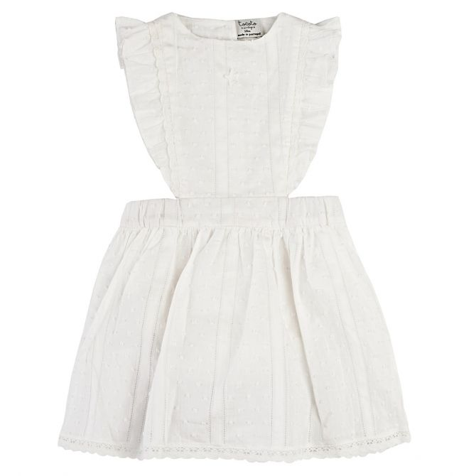 Plumeti Baby Dress white - Tocoto Vintage