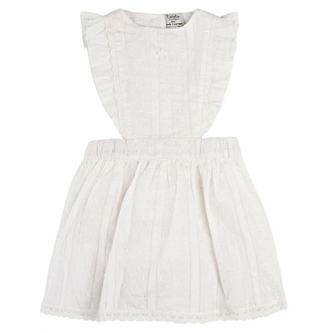 Sukienka Plumeti Baby biała - Tocoto Vintage