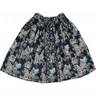 Spódnica Flowers Midi czarna