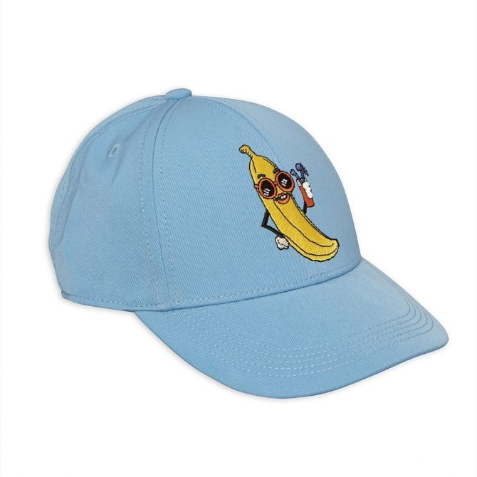 Banana Embroidery Cap blue - Mini Rodini