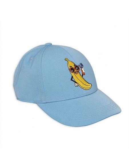 Mini Rodini Banana Embroidery Cap blue