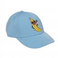 Banana Embroidery Cap blue