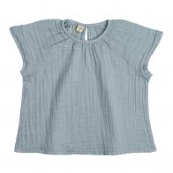 Bluzka dziecięca Clara zgaszony błękit